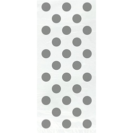 Silver Polka Dots Cello Bags (20pk)