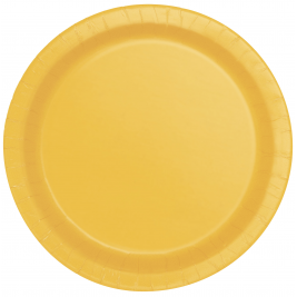 Sunflower Yellow Round Plates 7