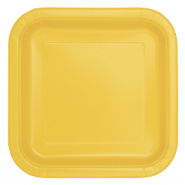 Sunflower Yellow Square Plates 7