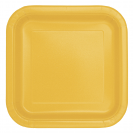 Sunflower Yellow Square Plates 9