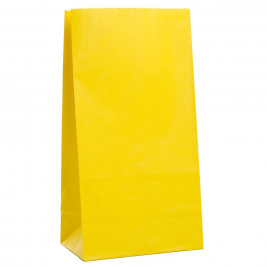 Sunny Yellow Paper Party Bags (12pk)