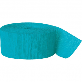 Teal Crepe Streamers 81ft