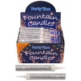 Silver Ice Sparkling Fountain Candles 24pk