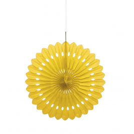 Yellow Tissue Decorative Fans 16