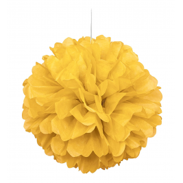 Yellow Tissue Puff Decorations 16